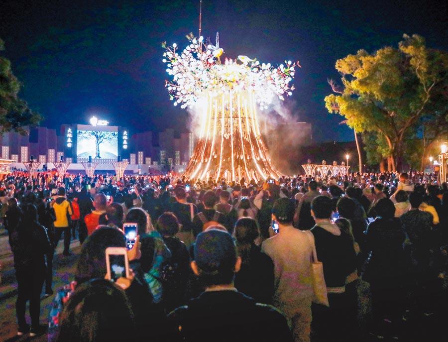 2020台灣燈會總參觀人次,研考會依中華電信大數據顯示已突破700萬人次!(台中市政府提供/陳世宗台中傳真)