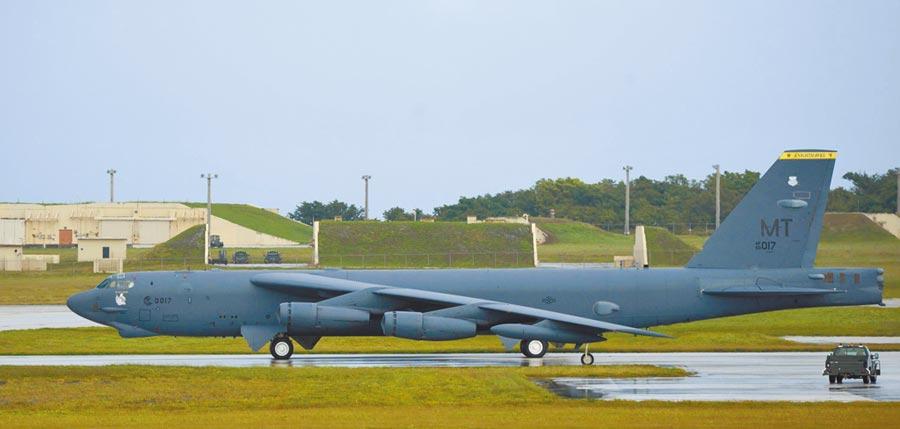 美軍戰略轟炸機B-52H。(中央社/摘自PACOM官網)