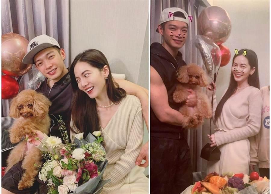 曾之喬分享和老公辰亦儒一起過情人節。取自臉書