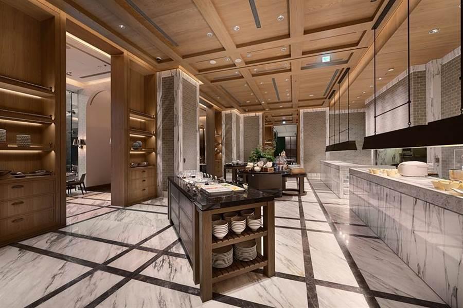 為節省開支,台北萬豪酒店館內Garden Kitchen晚餐時段已停止供餐。(圖/台北萬豪 酒店)
