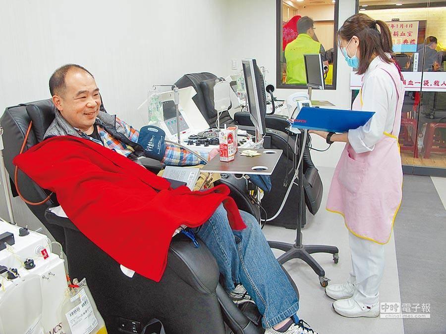 圖為新竹捐血中心中壢捐血室。(中時資料照)
