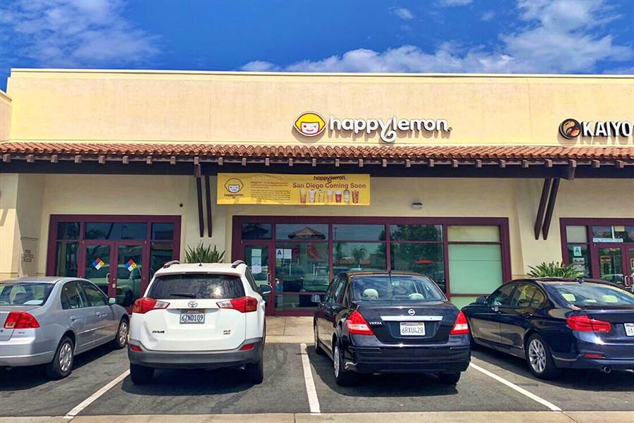 連鎖餐飲集團雅茗-KY積極拓展美國市場,圖為「快樂檸檬」美國聖地牙哥二店。(雅茗提供/記者林資傑台北傳真)