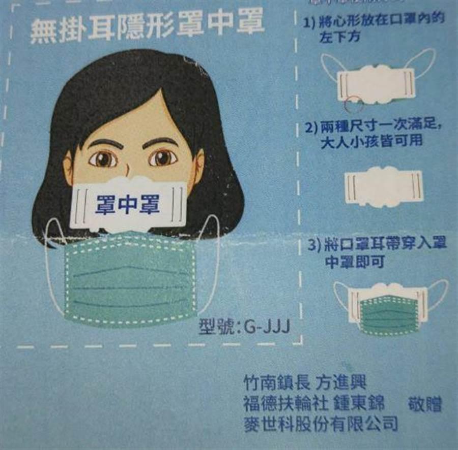 竹南鎮公所預計訂購50萬片罩中罩,分送鎮民1人5片。(竹南鎮公所提供/巫靜婷苗栗傳真)