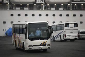 日自衛隊備大巴 送公主號美旅客搭包機