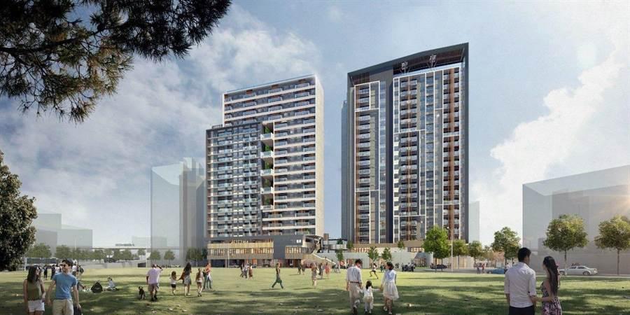 錦州社會住宅完工模擬圖。(台北市工務局新工處提供/譚宇哲台北傳真)