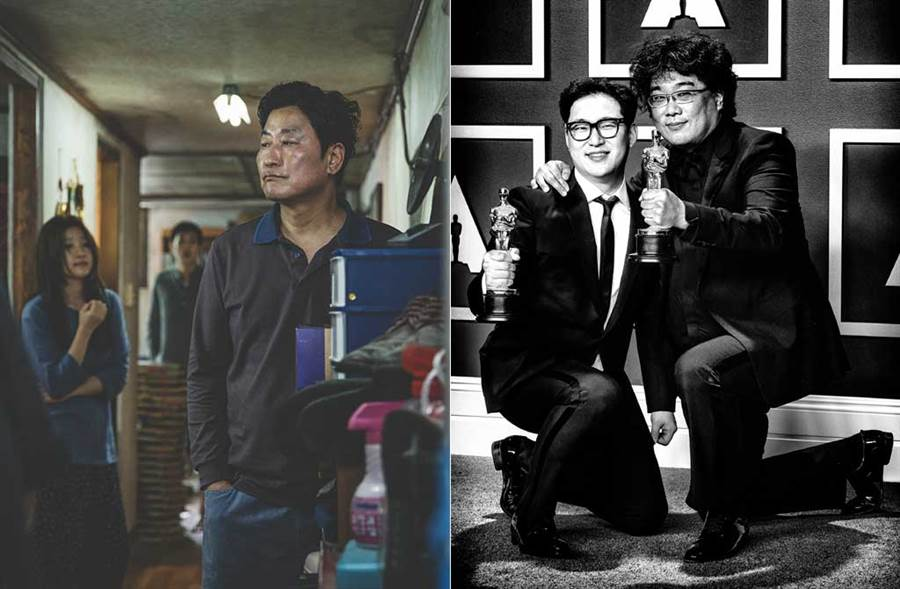 在國際電影界大發光的《寄生上流》,卻遭兩大南韓級航空公司排除於機內放映名單中。(達志影像)