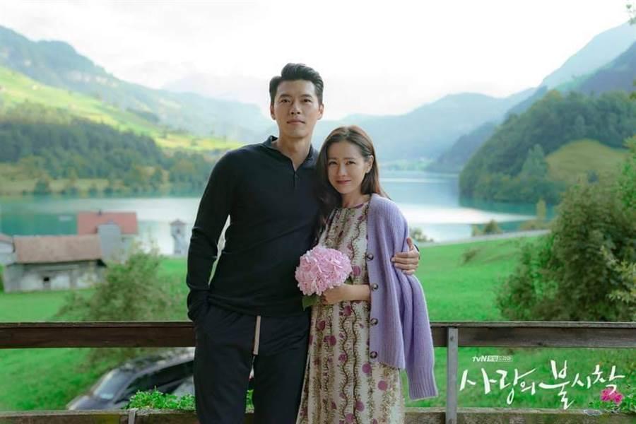 粉絲見兩人合照直說有夫妻臉。(圖/翻攝自tvN)
