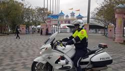 中市警方添購警大重機護具執勤更安全