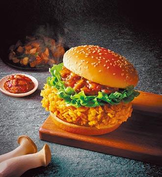 速食店三杯漢堡上陣