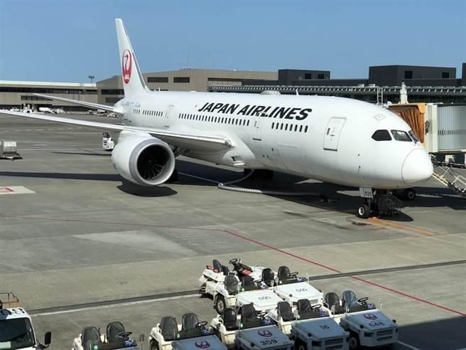 日本航空。(本報資料照 黃菁菁攝)