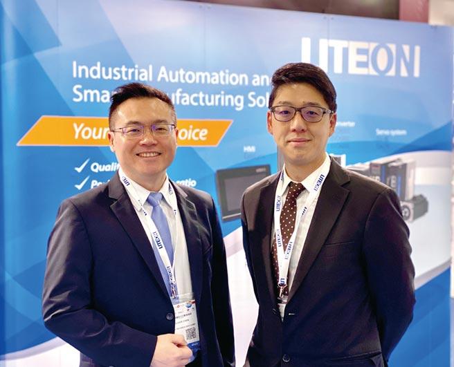 (左起)光寶科技工業自動化事業部全球經銷商管理業務總監陳子健、光寶科技工業自動化事業部總經理鄭智峰。圖/業者提供