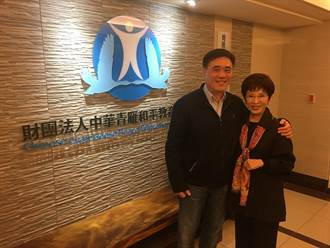 洪秀柱鼓勵郝龍斌:為了黨的將來 一定要加油!