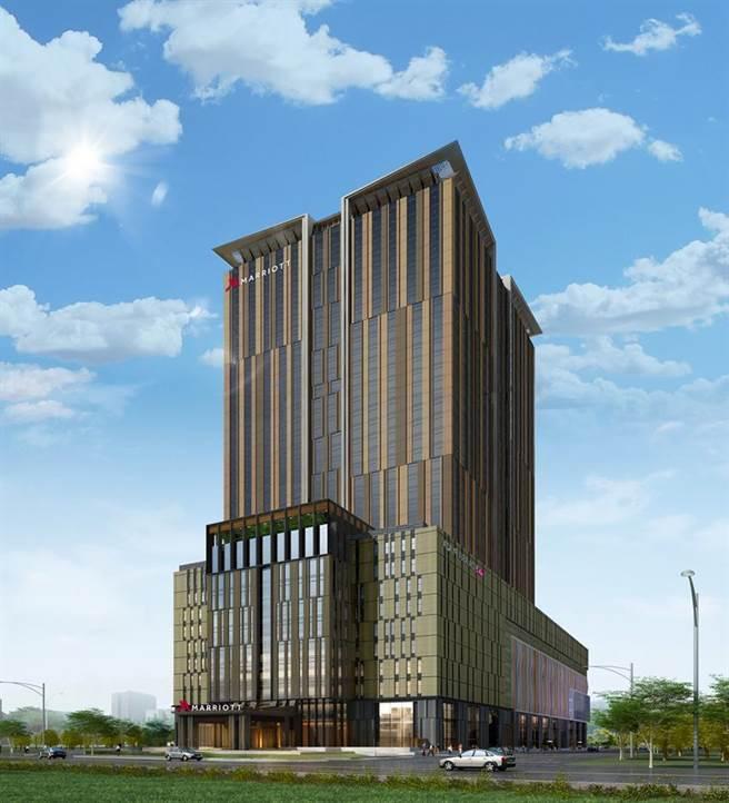 擁有700間套房的萬豪國際酒店,將成為北高雄新地標。圖:業者提供