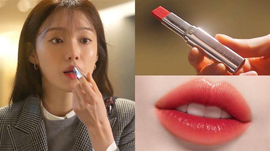 李聖經在劇中使用蘭芝LANEIGE超完美六色BOBO唇膏#3淘氣蜜橙,預期將會造成搶購風潮!(圖/品牌提供)