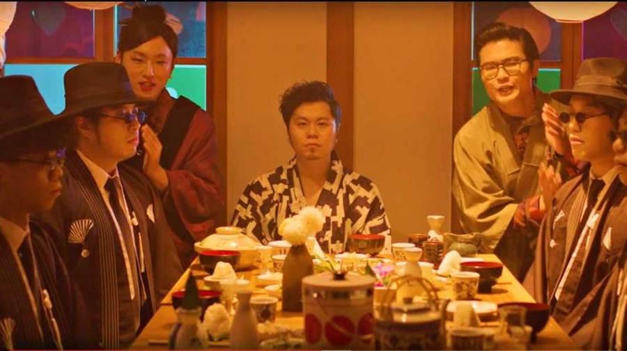 黃子軒與山平新歌〈Hotel〉MV以日式古裝劇的方式呈現。(圖/獨一無二娛樂文化提供)