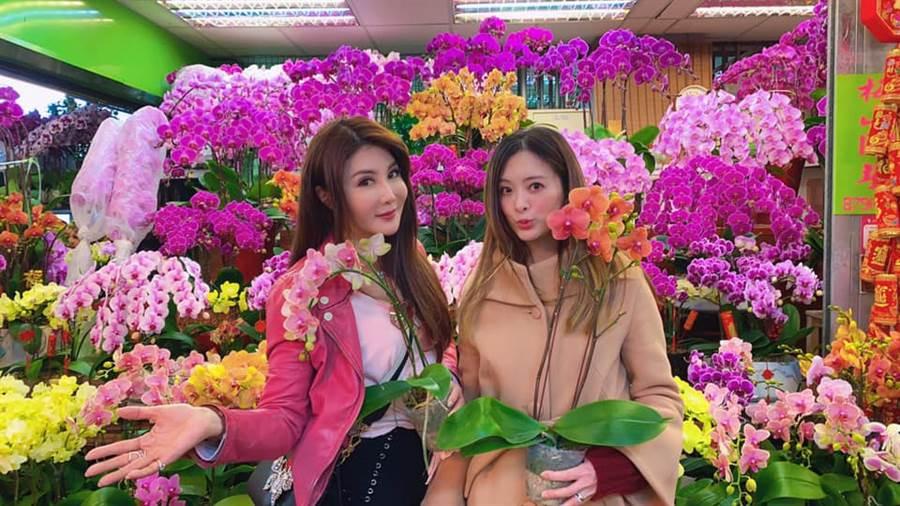 劉真和楊麗菁(左)。(圖/翻攝自臉書)