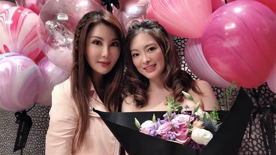 楊麗菁(左)與劉真(右)相知相惜近20年,劉真突然病逝讓她至今無法接受。(圖/翻攝自楊麗菁臉書)