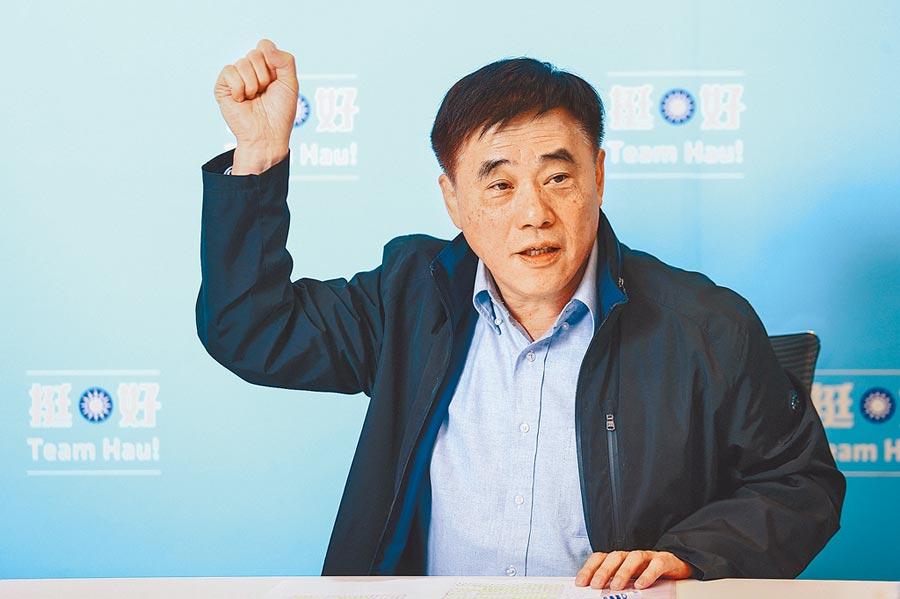 國民黨主席候選人郝龍斌說,傅崐萁一直支持國民黨,他支持傅回黨內。(本報資料照片)