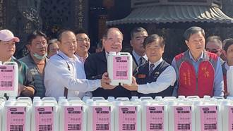三重先嗇宮生產「次氯酸水」 慨贈計程車行200桶民眾也可領