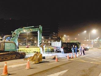北市成功路二段 封路汰換油管