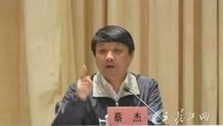 武漢人事再震!常委秘書長蔡杰被雙開 移送司法