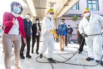 韓國瑜視察校園消毒工作 23日前完成