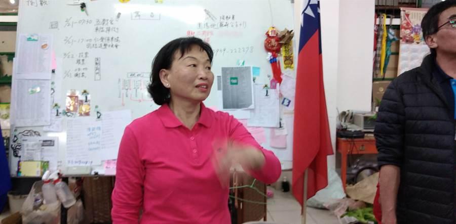 張順朋補選當選成為竹東鎮首位女鎮長。(羅浚濱/攝)