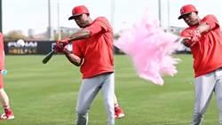MLB》幸福球迷!神鱒、厄普頓擊球揭曉寶寶性別