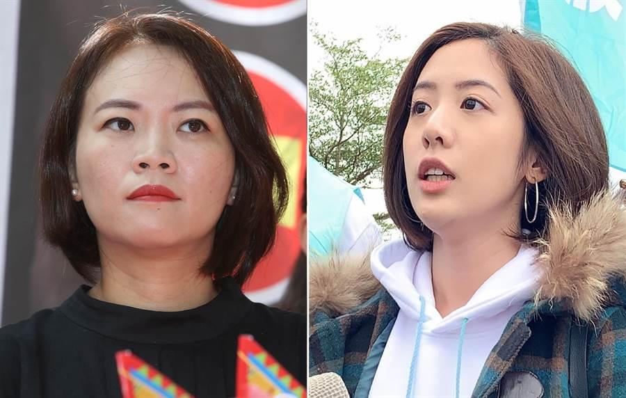民進黨台北市議員 簡舒培(左)、台北市政府副發言人「學姊」黃瀞瑩。(圖/合成圖,本報資料照)