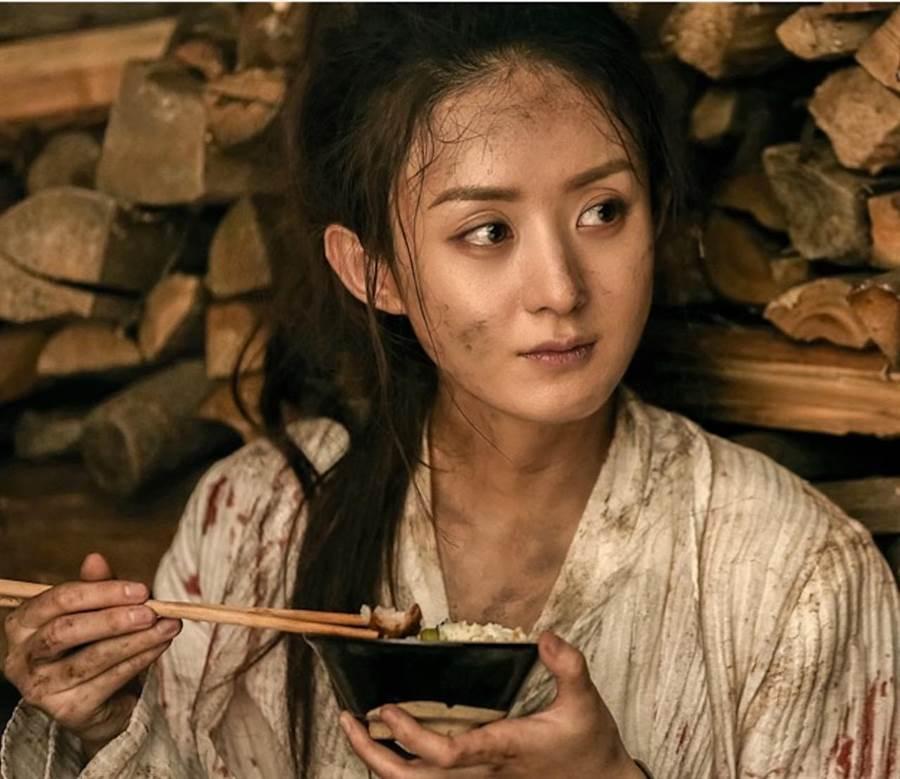 《楚喬傳》趙麗穎飾演奴隸。(中天)