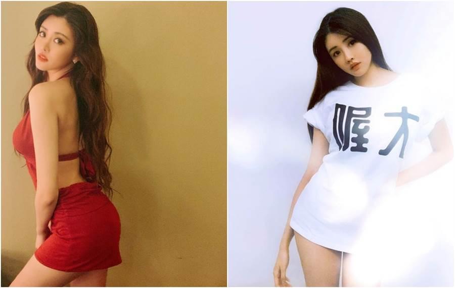 賴琳恩穿著露背裝,火辣現身老公演出活動。(圖/翻攝自賴琳恩臉書)