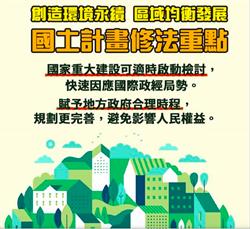 張景森千字文:國土計畫法不修是災難