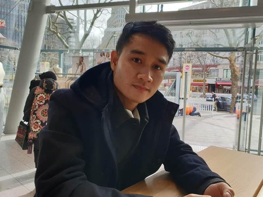 寮國新人演員亞儂弘尚希首次出席國際影展見世面。(摘自蔡明亮FB)