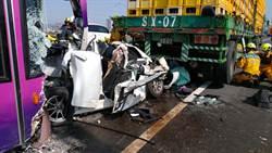 台74線重大車禍女駕駛不治2童輕傷
