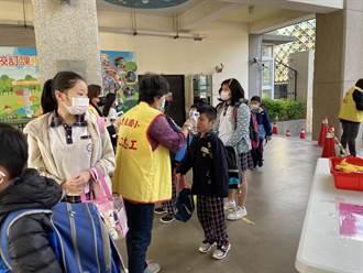 台中西屯惠來國小設體溫量測站 家長自製體溫紀錄貼紙