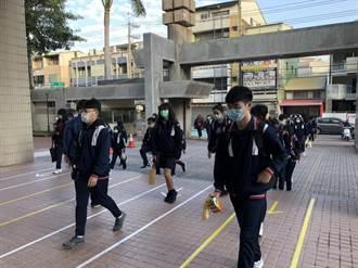大甲高中分5路量體溫進校 班上設防疫小尖兵