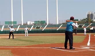 韓國職棒KIWOOM英雄隊與中華職棒球中信兄弟隊展開交流賽