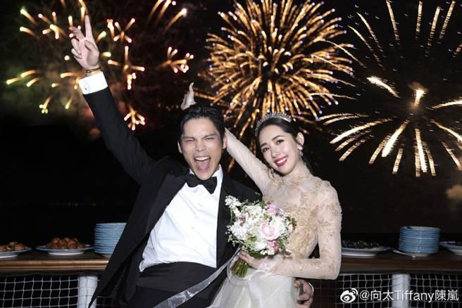 郭碧婷和向佐去年9月在義大利舉行婚禮。(圖/翻攝自微博)