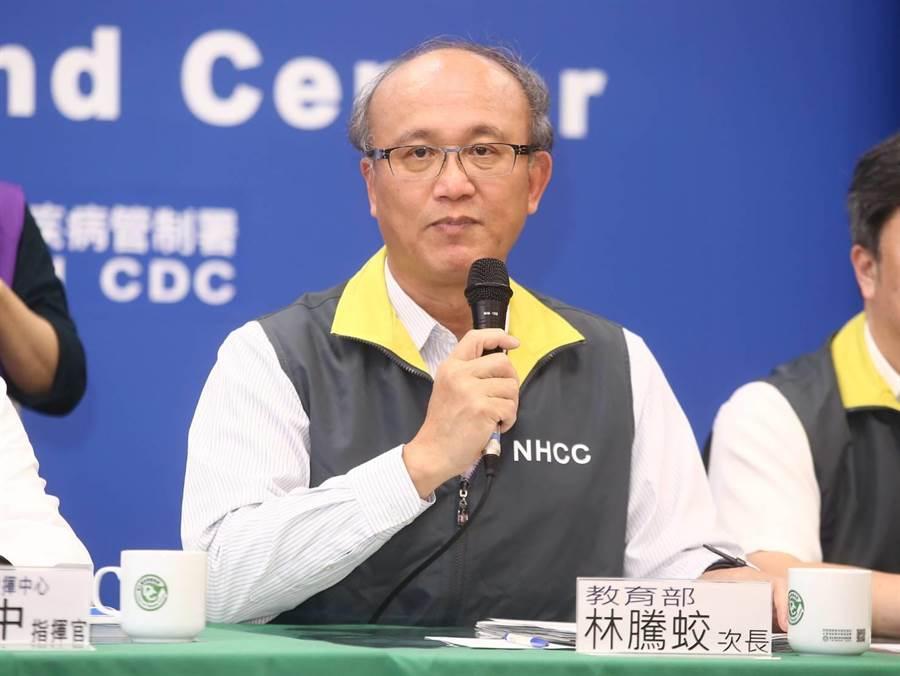教育部長潘文忠宣布由次長林騰蛟暫代體育署長一職。(杜宜諳攝/資料照)