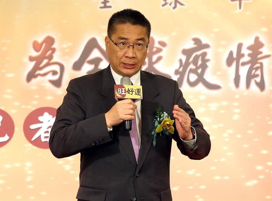 內政部長徐國勇致詞。(趙雙傑攝)