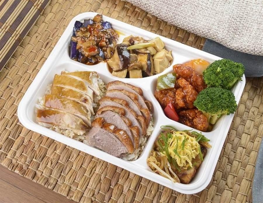 (漢來美食巨蛋翠園餐廳推出海派雙拚便當。圖/業者提供)