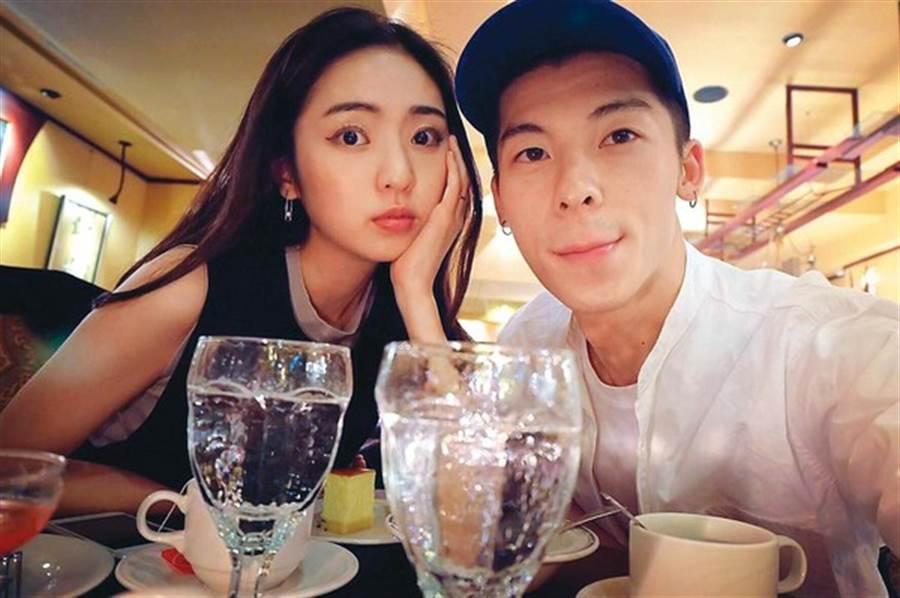 簡婕(左)與許光漢(右)過去在2017年分手,但女方卻一直沒有刪掉兩人情侶合照,沉寂多日女方首度發聲。(圖/翻攝自簡婕IG)
