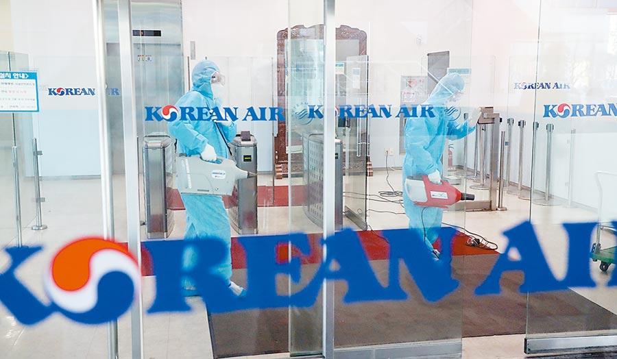 新冠肺炎疫情爆發以來,韓國航空業大幅減班,業績受重創。圖/美聯社