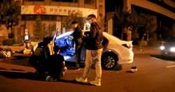 藏K菸心虛拒檢 毒蟲駕車撞傷2警
