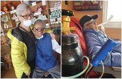 86歲脫線罹肺炎康復出院 感人PO文謝老伴