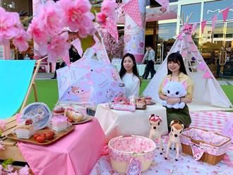 台中百貨商場228連假很「櫻花」!成為熱門打卡景點