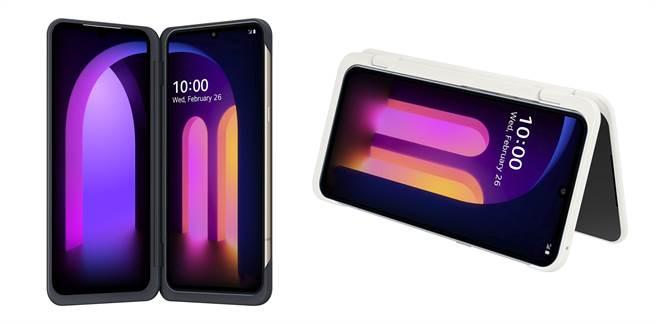 LG Dual Screen雙螢幕配件提供黑色以及白色的選項。(LG提供/黃慧雯台北傳真)