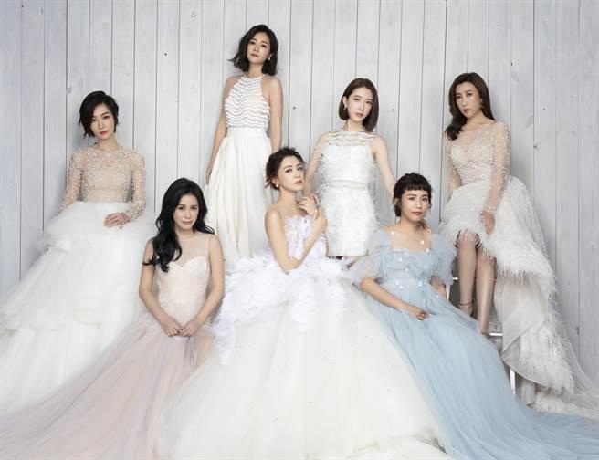 王思平揪好姊妹拍閨蜜婚紗,獨缺李毓芬。(日出工作室提供)