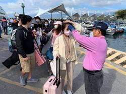 228連假台東富岡等交通船碼頭落實體溫監測