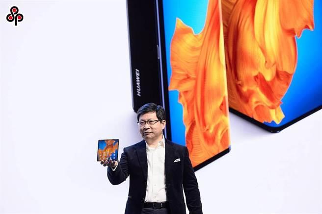 圖為華為日前舉行線上發表會,推出全新摺疊手機Mate Xs。(華為提供)